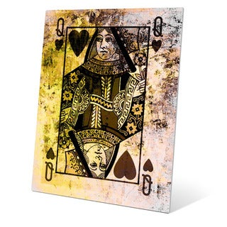 The Queen of Hearts Graphic on Metal