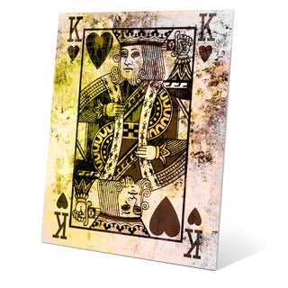 The King of Hearts Graphic on Glass