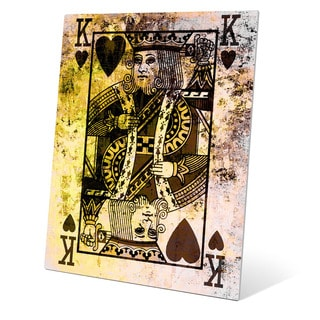 """The King of Hearts"" Graphic Aluminum Art Print"