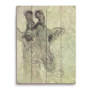 """Cheeky Giraffe"" Graphic Wood Art Print"