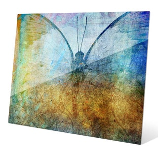 Cellophane Butterfly Graphic on Glass