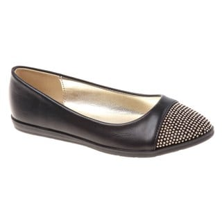 Kensie Girls' Cap Toe Flats