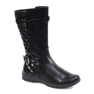 Kensie Girls' Quilted Strap Boots