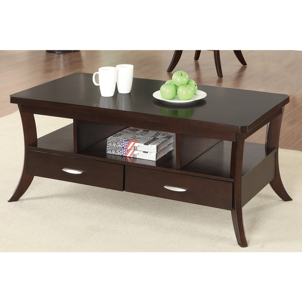 Coffee Table With Drawers Sale: Shop Coaster Company Espresso 2-Drawer Coffee Table