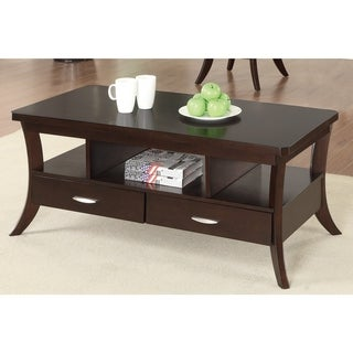 Coaster Company Espresso 2-Drawer Coffee Table