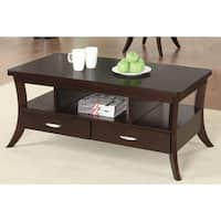 Coaster Company Espresso 2-Drawer Coffee Table