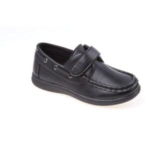 Josmo Boys' Black Boat Shoes|https://ak1.ostkcdn.com/images/products/12180599/P19030929.jpg?_ostk_perf_=percv&impolicy=medium