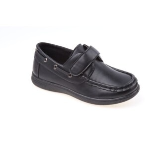 Josmo Boys' Black Boat Shoes