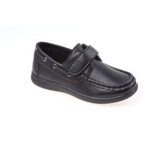 Josmo Boys' Black Boat Shoes (Sizes 6-11)|https://ak1.ostkcdn.com/images/products/12180601/P19030930.jpg?impolicy=medium