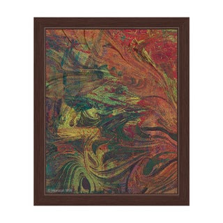'Amber Swirl' Framed Graphic Print Wall Art