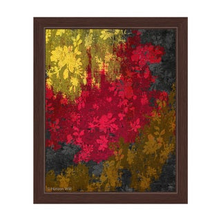 'Crimson Scraps of Spring' Framed Graphic Print Wall Art