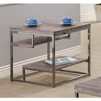 Coaster Company Home Furnishings End Table, Weathered Grey/Black Nickel