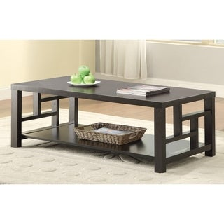 Coaster Company Cappuccino Rectangle Coffee Table  sc 1 st  Overstock.com & Coaster Coffee Console Sofa \u0026 End Tables For Less   Overstock
