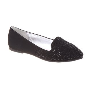 Kensie Girls' Black Stud Ballerinas