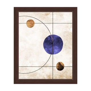 'The System Indigo' Framed Graphic Print Wall Art