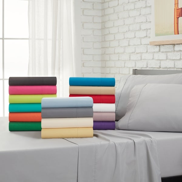 Home Dynamix Ritz Microfiber Collection Solid Color Sheet Set