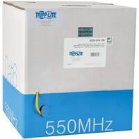 Tripp Lite 1000ft Cat6 Gigabit Bulk Cable Solid Core CMR PVC Yellow 1