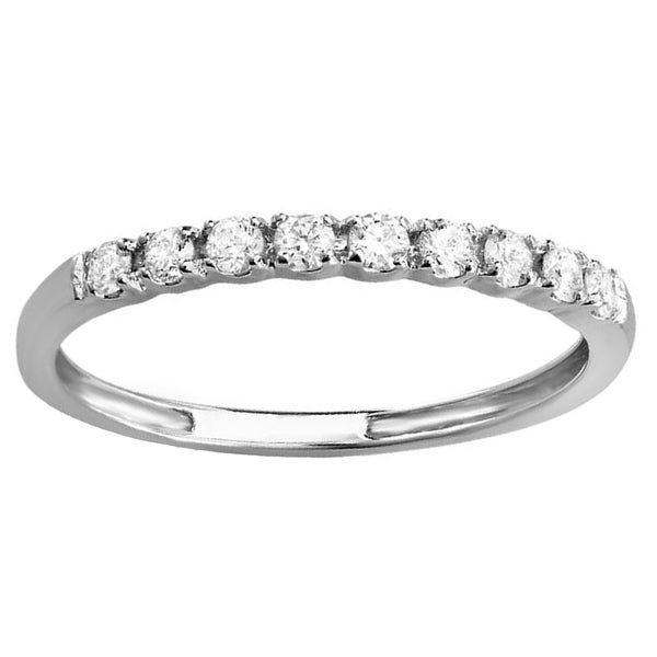 Elora 10k White Gold 1/4ct TDW Diamond Wedding Band Enhancer