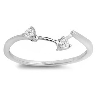 10k Gold 1/10ct TDW Diamond Anniversary Wedding Ring Guard (I-J, I2-I3)