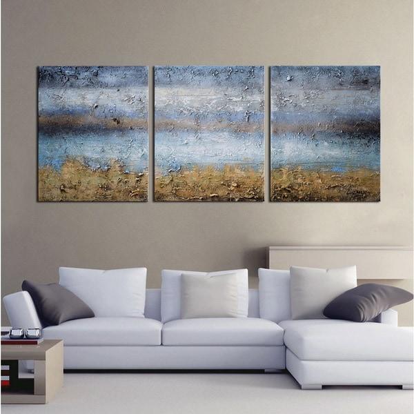 U0026#x27;Abstract 674u0026#x27; Gallery Wrapped Canvas 3 Piece