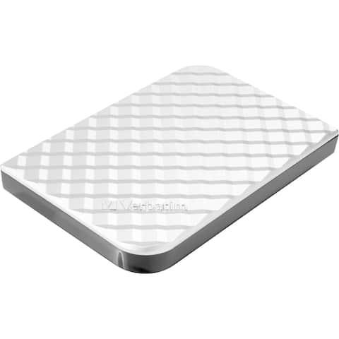 Verbatim Store 'n' Go 1 TB Hard Drive - External - Diamond Silver