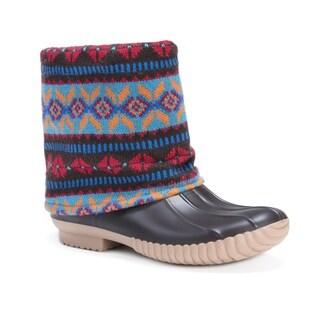 Muk Luks Women's Polyester/ Acrylic/ PVC Sydney Rainboots