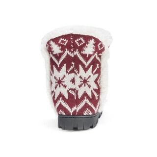 Muk Luks Women's Polyester/ Acrylic Lug Bootie