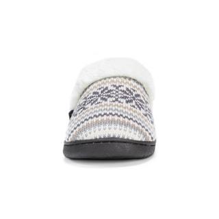 Muk Luks Women's Polyester/ Acrylic Patterned Knit Clogs