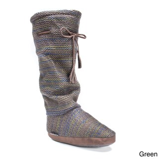 Muk Luks Women's Tall Grace Tie Boot Slipper (3 options available)