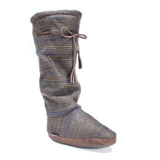 Muk Luks Women's Tall Grace Tie Boot Slipper