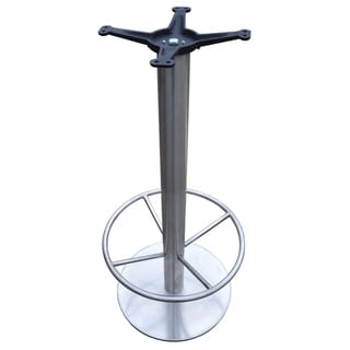 JI Bases 18-inch Round Bar-height Stainless Steel Base with 3-inch Column, 19-inch Footring, and 13-inch Cast Iron Top Plate