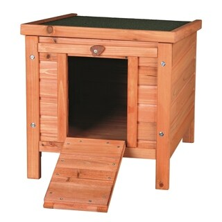 Trixie Pet Products Brown Wood Rabbit/Guinea Pig Hutch with Outdoor Run