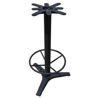 JI Bases 27-inch Cast-iron 3-prong Bar-height Table Base, 3-inch Column, 19-inch Footring, and 17-inch Top Plate