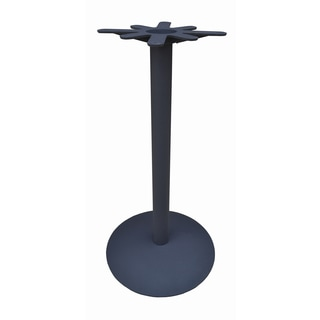 JI Bases 22-inch Domed Round Cast-iron Bar-height Base with 3-inch Column and 17-inch Top Plate