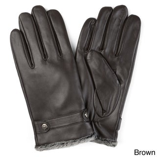 Vance Co. Men's Lined Leather Sheepskin Gloves (2 options available)