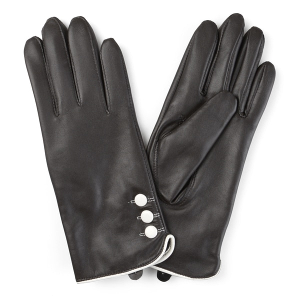 Journee Collection Women's Lined Leather Sheepskin Gloves