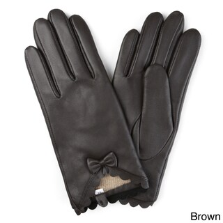 Journee Collection Women's Wool Lined Leather Sheepskin Gloves (3 options available)