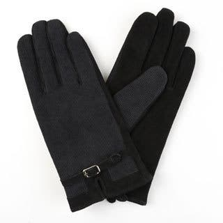 Journee Collection Women's Lined Leather Suede Corduroy Gloves|https://ak1.ostkcdn.com/images/products/12182043/P19032156.jpg?impolicy=medium