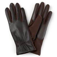 Journee Collection Women's Lined Leather Gloves