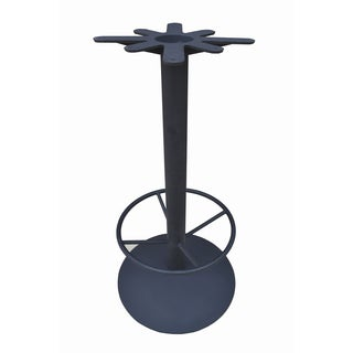 JI Bases 22-inch Domed Round Cast Iron Bar Height Base with 19-inch Footring, and 17-inch Top Plate