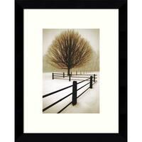 Framed Art Print 'Solitude' by David Lorenz Winston 9 x 11-inch