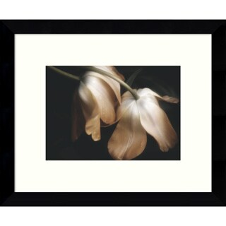Framed Art Print 'Dew Drops (Tulips)' by David Lorenz Winston 11 x 9-inch