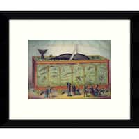 Framed Art Print 'The Aquarium' by Vintage Reproduction 11 x 9-inch