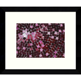Framed Art Print 'Marsala Radial' by Stacey Wolf 11 x 9-inch