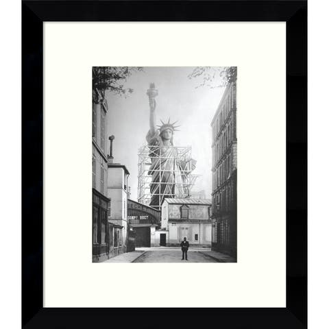 Framed Art Print 'Statue of Liberty in Paris, 1886' by Vintage Photography 9 x 11-inch