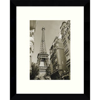 Framed Art Print 'Eiffel Tower Street View #1' by Christian Peacock 9 x 11-inch