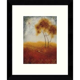 Framed Art Print 'Distant View II (Landscape)' by Susan Osbjorn 9 x 11-inch