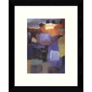 Framed Art Print 'Quartet (Abstract)' by Nancy Ortenstone 9 x 11-inch