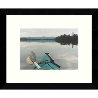 Framed Art Print 'Kayak Dreams' by Orah Moore 11 x 9-inch
