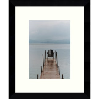 Framed Art Print 'Morning Watch (Dock)' by Orah Moore 9 x 11-inch